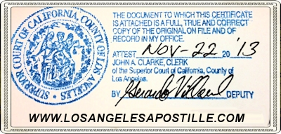 apostille divorce decree superior court